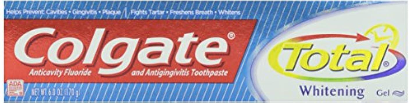 わかりやすい位置する織機Colgate トータルプラスホワイトニングジェル歯磨き、6オンス 1パック