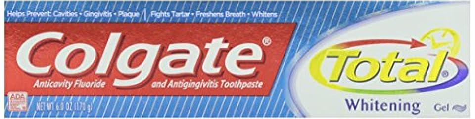Colgate トータルプラスホワイトニングジェル歯磨き、6オンス 1パック