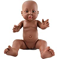 HiPlay ベビー ドール アフリカ 新生児 赤ちゃん リアル 黒い肌 黒人 人形 モデル 模型 子供のおもちゃ ベビーケア トレーニング 『妊婦?育児?産科?教育』等身大 40cm (女の子)