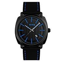 SKMEI 9169ブランドメンズファッションカジュアルスポーツウォッチメンズ防水レザーQuartz Watch Man Military腕時計Relogio Masculino
