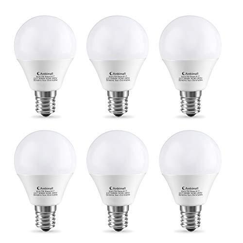 LED電球 Ambimall 口金直径17mm 60W相当(6W) 昼光色(5000K)広配光タイプ 密閉形器具対応 (セット:6個入り) ABM-G4517CW