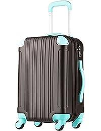 スーツケース キャリーケース キャリーバッグ ■安心1年保証■ M サイズ 当店人気 カラフル キャリーバック 4日 5日 6日 7日 中型 TSAロック ハードキャリー ジッパー 拡張ファスナー 5082-60 全サイズ 有り チョコ/ミント