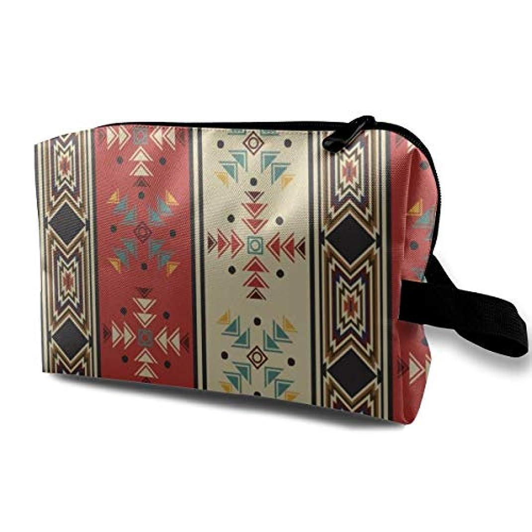 日食カトリック教徒強制的Navaho Style 収納ポーチ 化粧ポーチ 大容量 軽量 耐久性 ハンドル付持ち運び便利。入れ 自宅?出張?旅行?アウトドア撮影などに対応。メンズ レディース トラベルグッズ