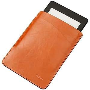 EKStore® 【2017 7inch Amazon Kindle Oasis Case 電子書保護カバー】シンプル/軽量/専用/質よい 二つバッグレザー スリム ケース カバー キンドルケース  (2017-7インチ版)Kindle Oasis対応 【全5色】 ブラウン