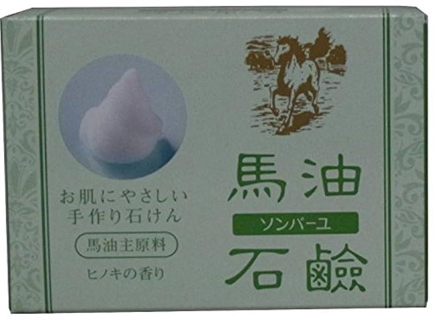 梨殺します岸ソンバーユ 馬油石鹸 ヒノキの香り 85g【2個セット】