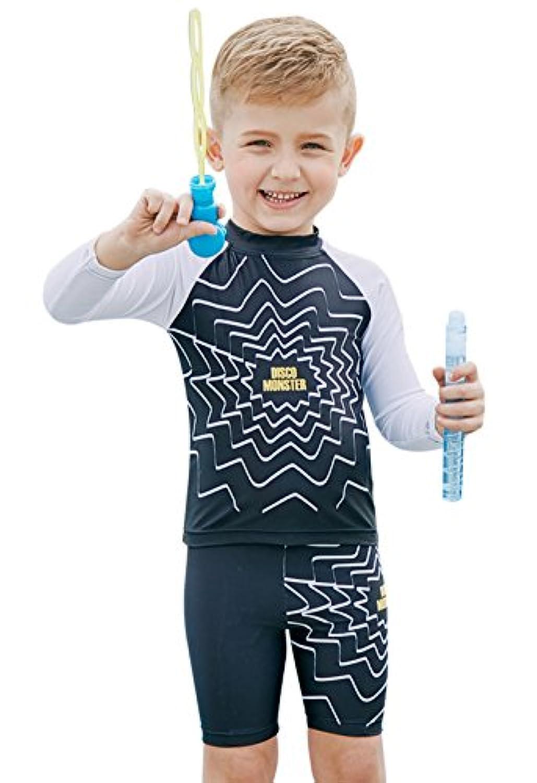 sabolay Kid Boys UPF 50 + UVラッシュガードセット半袖スーツ水着