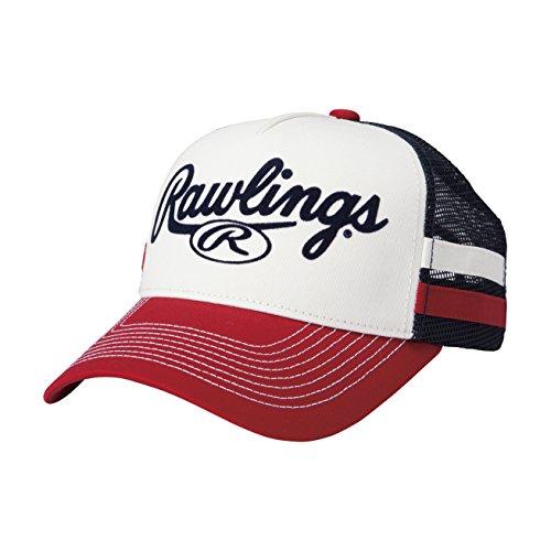 Rawlings(ローリングス) スタンダードツイル&メッシュキャップ AAC8S04 レッド F(フリー)