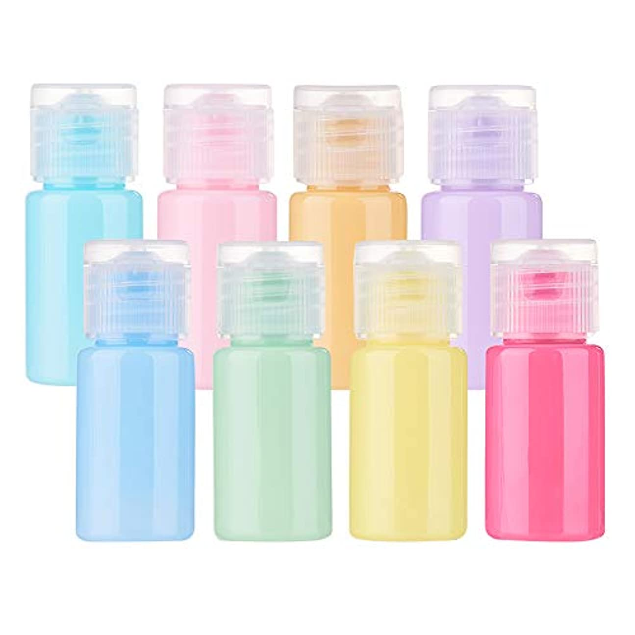 既婚道徳教育消費者BENECREAT 24個セット10mlマカロン色ボトル カラフルボトル プラスチック製 フリップキャップ クリーム 化粧品小分け 旅行 詰め替え容器