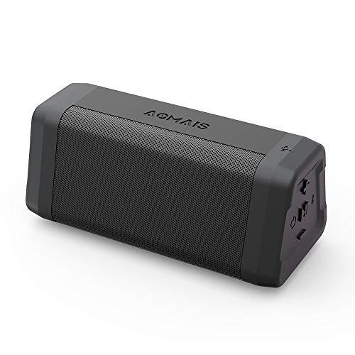 AOMAIS Bluetooth ブルートゥース スピーカー TWS機能対応 10W出力 Bluetooth4.2 24時間 /マイク搭載/ワイヤレス IPX4防水規格 黒
