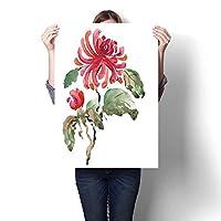 キャンバス絵画ステッカー 森の背景 動物油絵 キャンバスプリント 壁の装飾用 (フレームなし) 28 x 52inch(70x130cm)/1pc