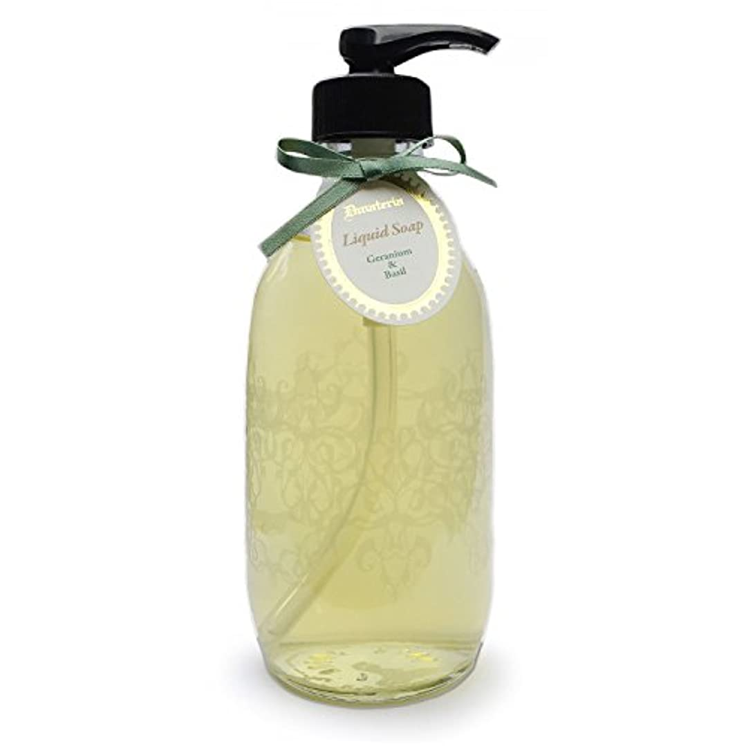 蚊朝の体操をする結婚したD materia リキッドソープ ゼラニウム&バジル Geranium&Basil Liquid Soap ディーマテリア