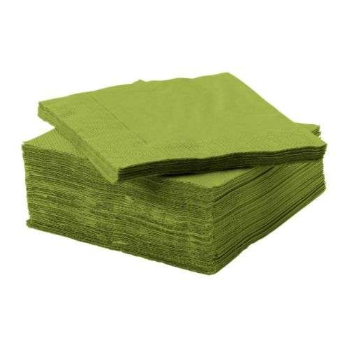 RoomClip商品情報 - FANTASTISK / ペーパーナプキン / グリーン / 24×24 cm 50ピース IKEA イケア