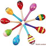Wooden Rattles Egg Shaker Kids Musical Party Favor Kid Baby Sand Shaker Newborn Sand Hammer Toy Random Color Kakiyi