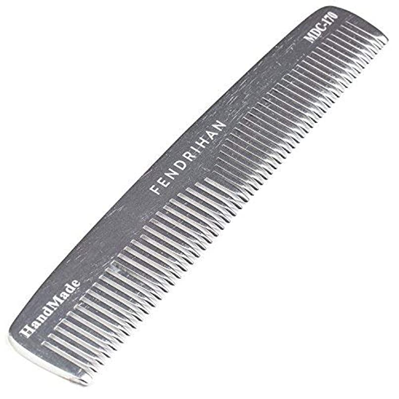 まさにソフトウェア一時停止Fendrihan Sturdy Metal Double Tooth Barber Grooming Comb (6.6 Inches) [並行輸入品]