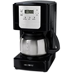 MiniShop(TM) Mr. Coffee 5-Cup Programmable Coffeemaker Black with Stainless Steel Carafe JWX9