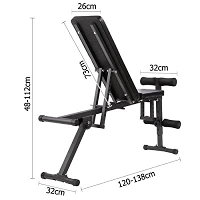 Everfit Adjustable Weight FID Bench 150KG Weight Capacity Home Gym Equipment Fitness Exercise Incline Bench Press Sit Up