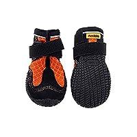 犬用靴 Mud Monsters (マッドモンスターズ) 3/XS-S オレンジ 2個入り [並行輸入品]