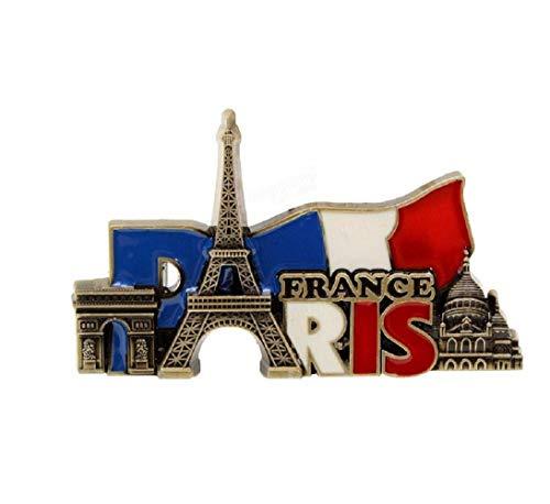 Beho パリフランス旅行コレクター金属立体冷蔵庫マグネットステッカー観光土産...