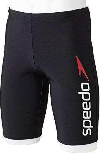 Speedo(スピード) メンズ フィットネス用 水着 スパッツ SD85S63 ホワイト×レッド(WR) S
