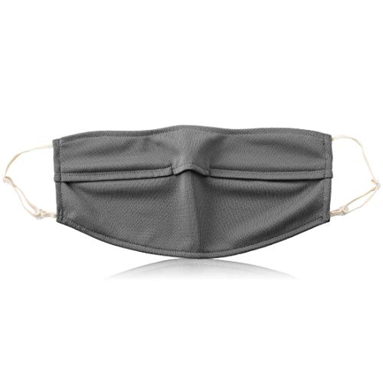 それスライス発明Qurra(Beauty)ヒカット 日本製 uvカットマスク UPF50+ 紫外線 98%カット 速乾 吸水 メンズ レディース 立体 洗える 耳紐調整 ダークグレー
