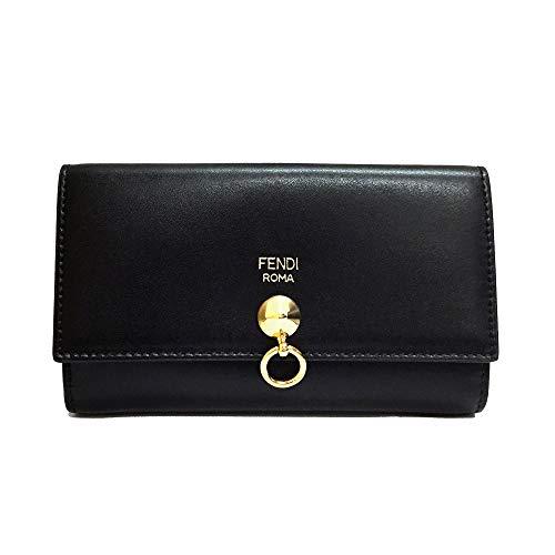 [フェンディ]FENDI 財布 レディース 8M0383 SME F0KUR 折り財布 ブラック レザー [並行輸入品]