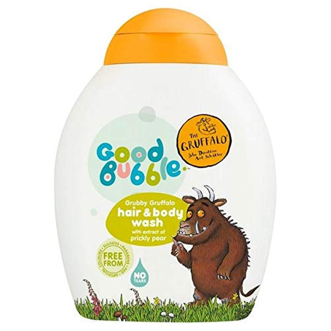 どうやら特性練習[Good Bubble ] ウチワサボテンエキス250ミリリットルとの良好なバブル汚いGruffaloヘア&ボディウォッシュ - Good Bubble Grubby Gruffalo Hair & Body Wash...