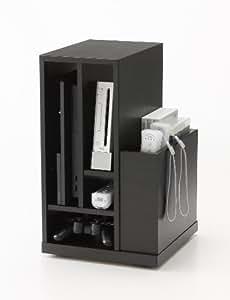 朝日木材加工 ゲーム収納ラック GSA-4530W-BK