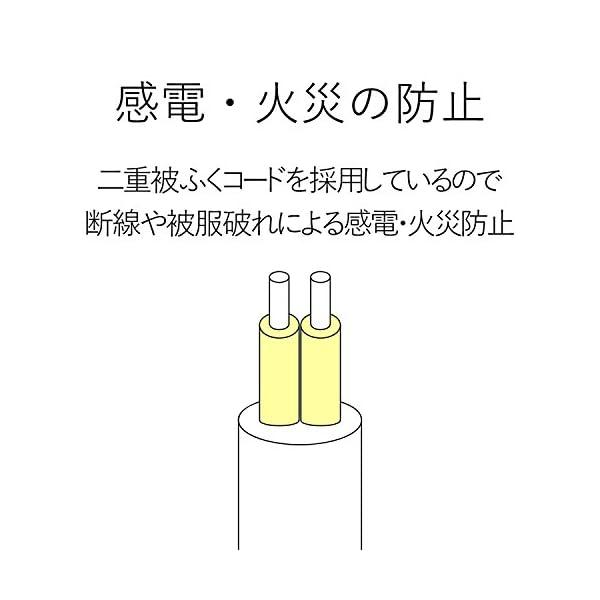 エレコム 電源タップ ほこり防止シャッター付き...の紹介画像6