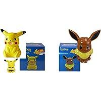 Pokemon Pikachu And Eeveeセラミックコイン貯金箱セット