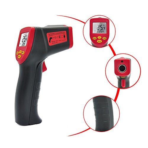EasyJoy 非接触赤外線放射温度計 デシタル測定器 【 -32℃-530℃(-26℉-986℉)】赤外線温度計 ガンタイプ