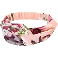 Zekaer Floral Twisted Silk Knotted Head Wrap Turband Headband Hair Band for Women