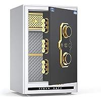 安全な機械のホームオフィス60cmの高さと小さなミニパスワードボックスすべての鉄鋼の盗難防止の壁のベッド 防犯用品 (Color : 白, Size : 41 * 34 * 60cm)