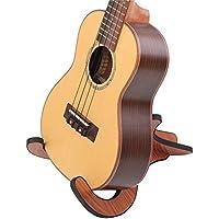 Wholehot ウクレレスタンド 木製 弦楽器スタンド ベース 折りたたみ式 ギター スタンド 組立簡単 ギター/ウクレレ/バイオリン用 DIY楽器アクセサリー おしゃれ