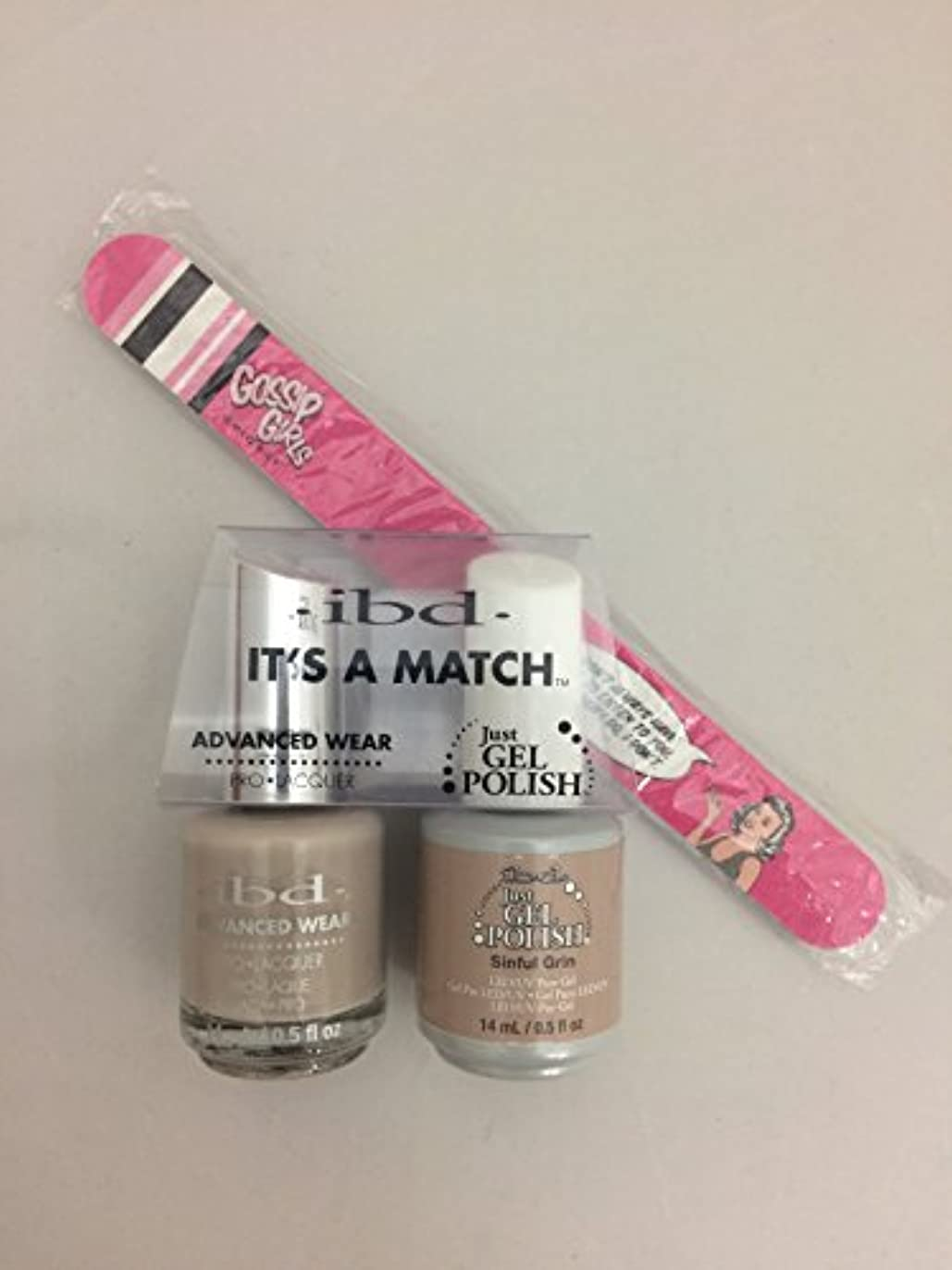 シェフ半径笑ibd - It's A Match -Duo Pack- Nude Collection - Sinful Grin - 14 mL / 0.5 oz Each