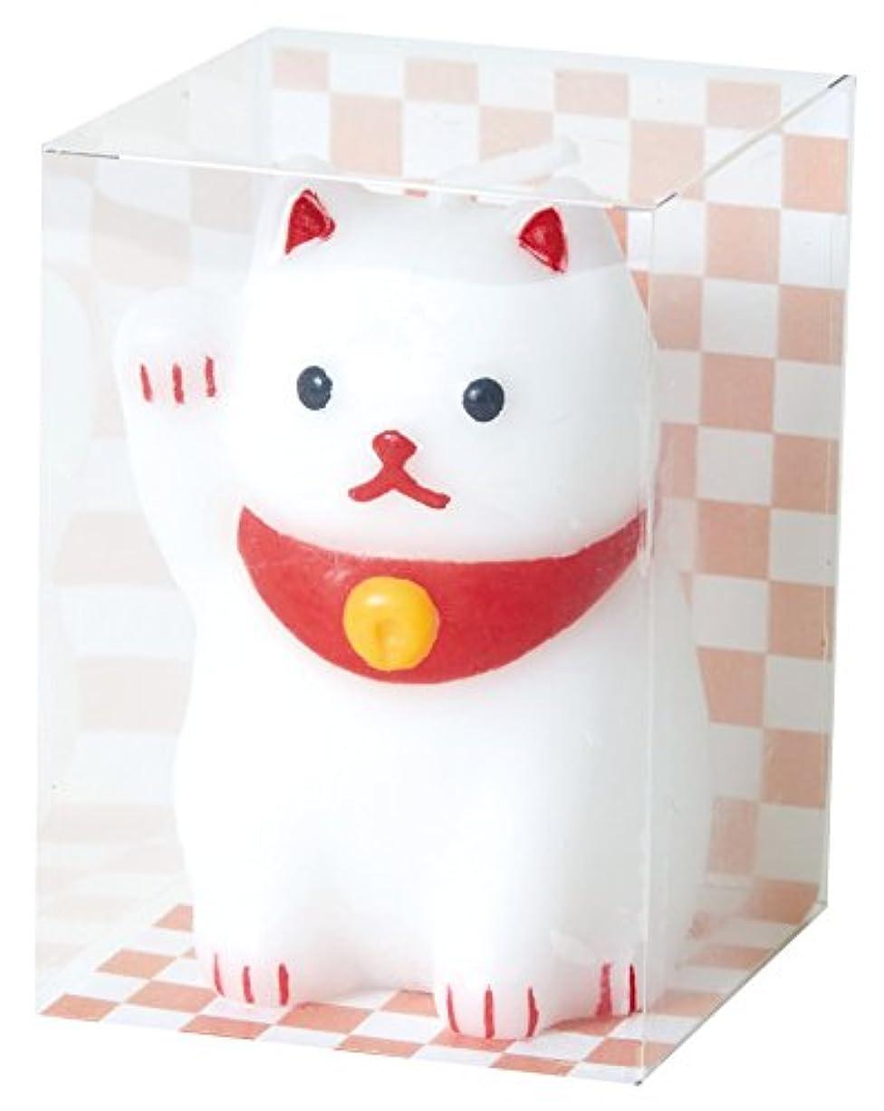 放置人事春カメヤマキャンドルハウス 福びよりキャンドル 招き猫