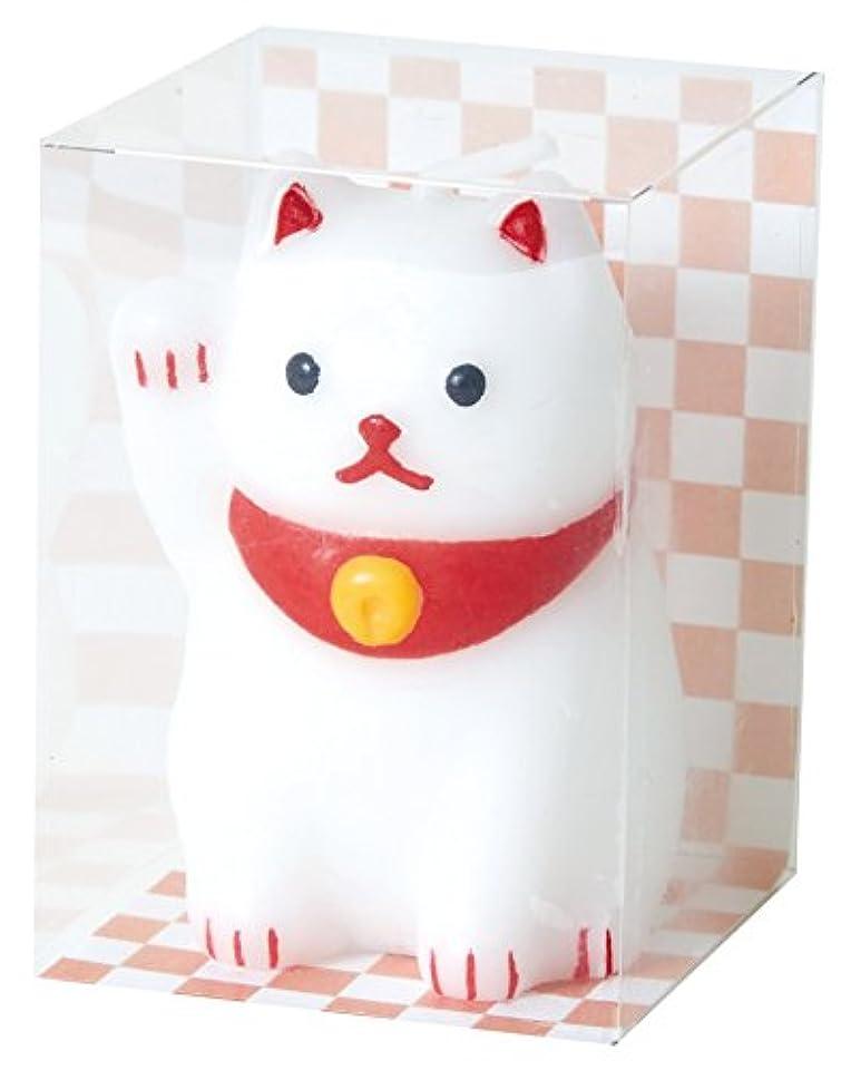 挨拶リーフレット硫黄カメヤマキャンドルハウス 福びよりキャンドル 招き猫