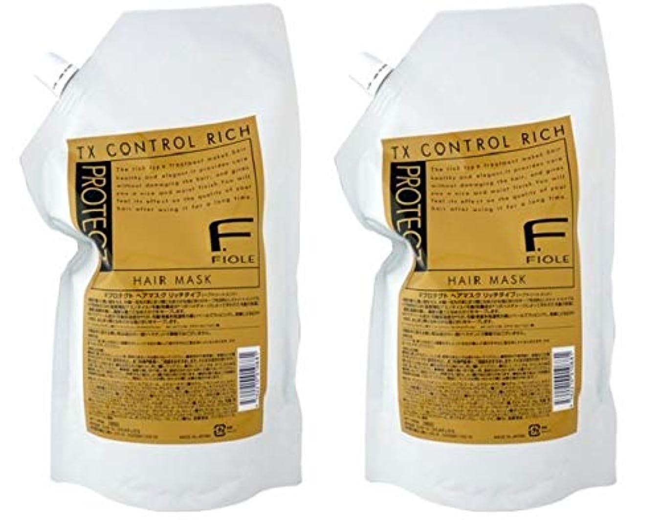 寝室を掃除する非効率的な名門【X2個セット】 フィヨーレ Fプロテクト ヘアマスク リッチタイプ 1000g 詰替え用
