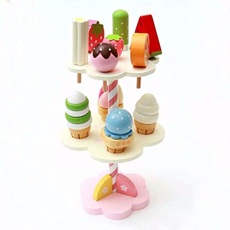 アイスクリーム キャンディー スタンド おもちゃ 木製 子供 おもちゃ 赤ちゃん用