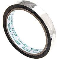 Perfeclan アルミ箔 ギフトラップテープ マスキングテープ DIYテープ 全3サイズ - シルバー, 幅15mm