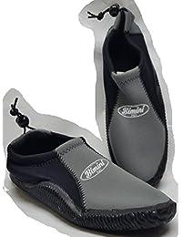 Bimini h2o GearメンズウォーターシューズAquaソックス、ブラック/グレーサイズ9