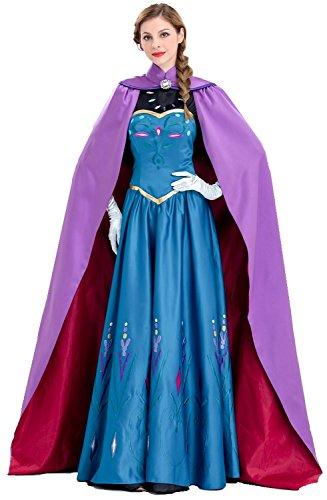 雪の女王 戴冠式 プリンセス ドレス コスチュームセット (...