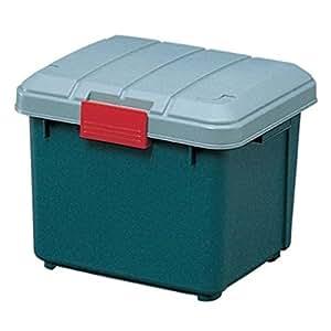 アイリスオーヤマ ボックス RVBOX 400 グレー/ダークグリーン 幅42×奥行37.5×高さ33cm