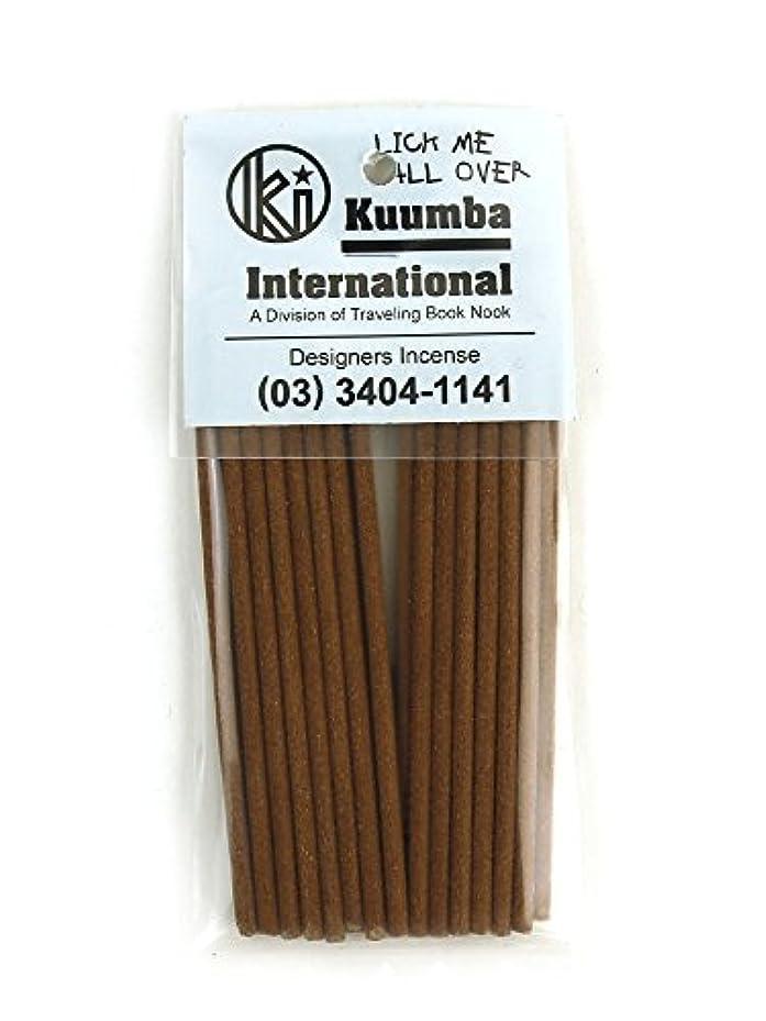 心理的秘密の略す(クンバ) Kuumbaスティックインセンスお香ミニサイズC(28本入り)MINI-INCENSE?358 F(フリー) LICK(LICK ME ALL.
