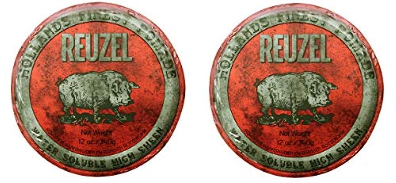 ただ悲劇詳細な【2個セット】ルーゾー REUZEL ミディアムホールド レッド HIGH SHINE 340g