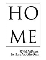 Home: 32 Wall Art Posters  For Home And Office Decor (Silver wall art collection)