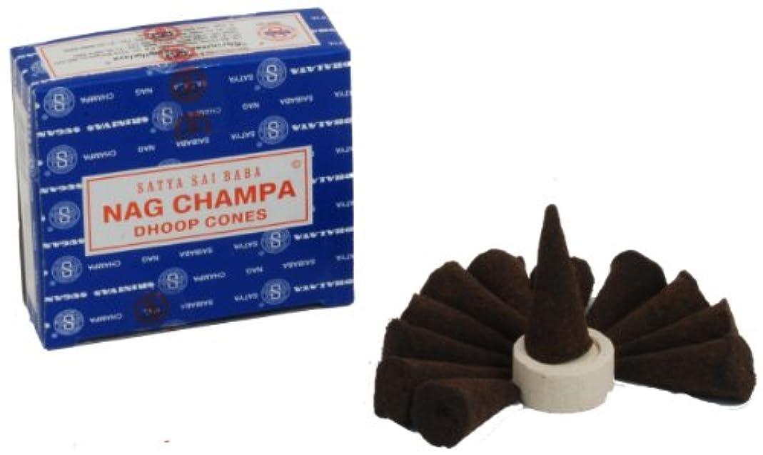 緩める幸運なことに破産Satya Nag Champa Incense Cones by Satya Nag Champa