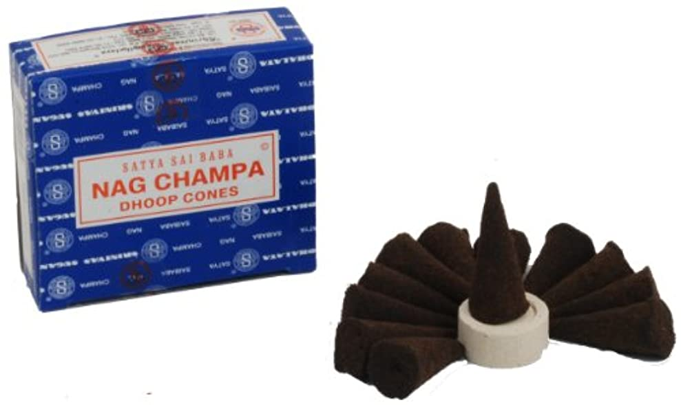 スモッグ恐れ不潔Satya Nag Champa Incense Cones by Satya Nag Champa