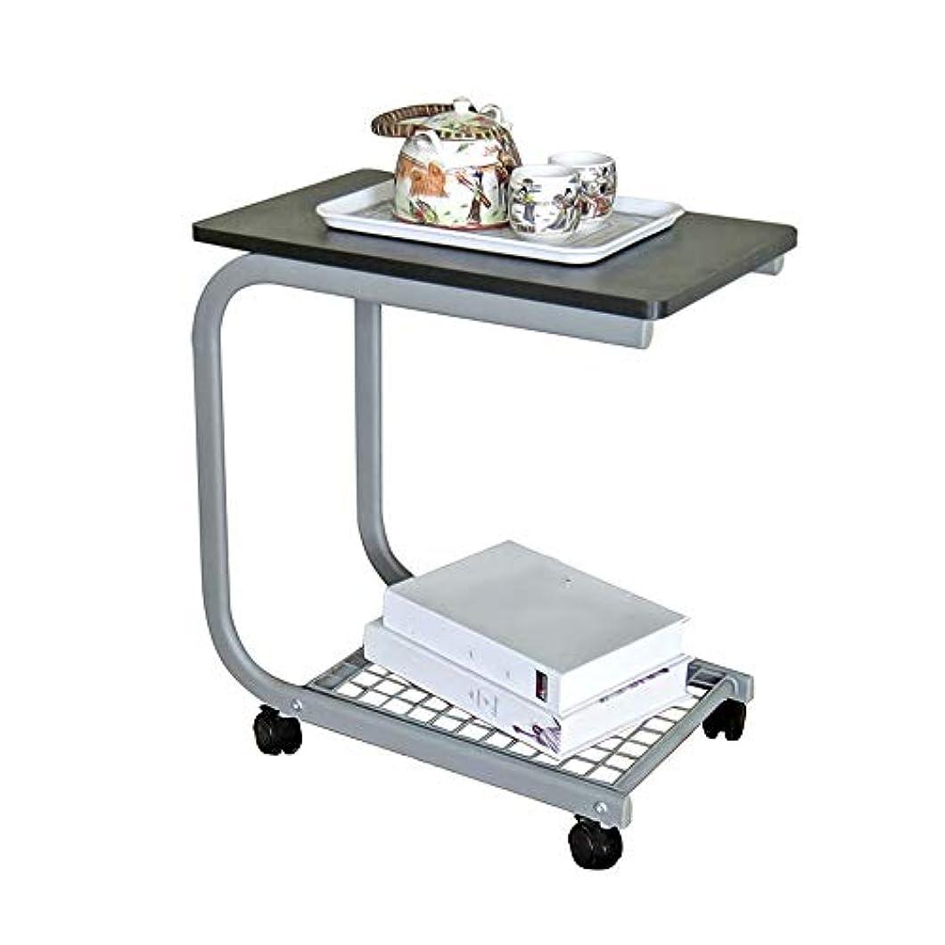 開業医アーティストナサニエル区LJHA zhuozi 小さなテーブルのモバイル車輪付きティーテーブルクリエイティブバルコニーコーヒーテーブル2色オプション (色 : A)