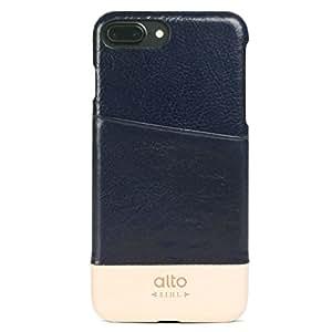 【日本正規代理店品】alto Metro for iPhone 7 Plus ネイビー/オリジナル (カードホルダー付・本革ケース) ALT-PH-000051