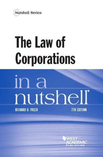 Download The Law of Corporations in a Nutshell (Nutshells) 163459701X